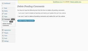 confitm deletion on pending comments