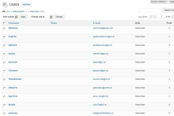 List of users who have registered but done nothing else. Most of these are fictitious